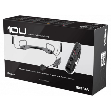 SENA - 10U Bluetooth Headset für Arai-Integralhelme - inkl. RC4-Lenkerfernbedienung