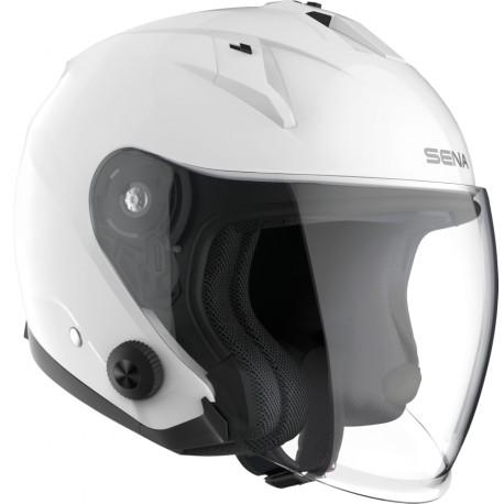 SENA - ECONO - Smart Motorrad-Jethelm (ECE) - weiss glänzend