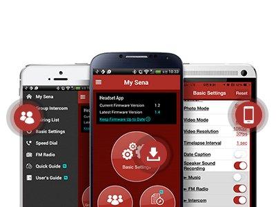 SENA 10UPAD - Kompaltibel mit SENA Smartphone-Apps
