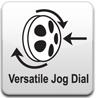Einfachste Bedienung mit Jog-Dial Dreh- und Druckrad