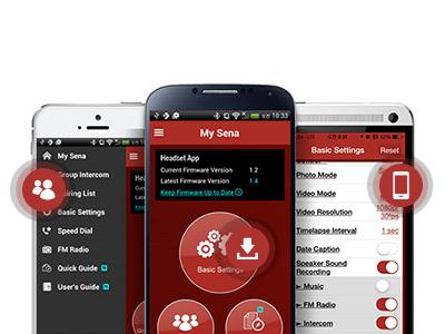 Mobile App fürs Sena SRL