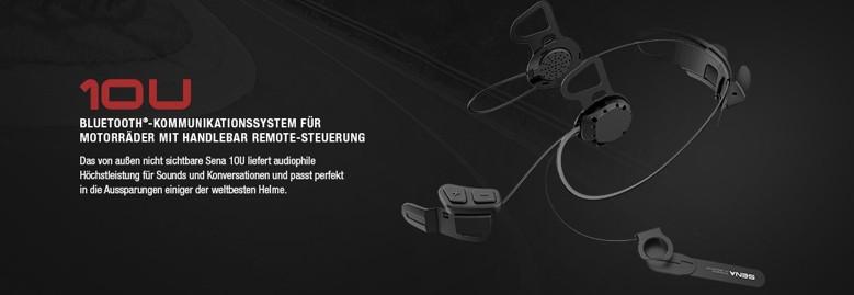 SENA 10U Bluetooth Headset - unsichtbar integriert in Shoei und Schuberth Helmen